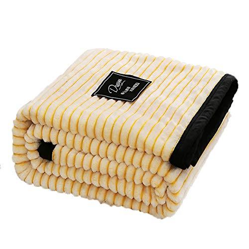 Stillshine. Schneeflocke Kuscheldecke Flauschige Decke Wohn Tagesdecke Wohndecke Couch-Decke Reisedecke Heimdecke Exquisiter Komfort Bettsofa Haustierdecke (120X200CM,Gelb)