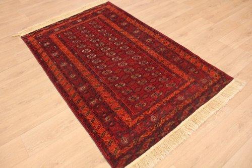 ETFA Teppiche Orientteppich Tekke Turkmen 190x120 cm Rot