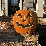 Jack O Lantern - Halloween Pumpkin Lantern with Pre-lit LED Bulbs - Gaint Indoor/ Outdoor Light Up Pumpkin for Halloween Decoration in Garden, Patio, Front Door D¨¦cor - Smile Face