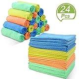 Masthome Confezione da 20 Pezzi Panni in Microfibra Set da Straccio per Pulire Super Assorbenti Panno per la Pulizia di Casa/Cucina/Auto,Lavabili in Lavatrice,40 x 30 cm, Colore: Multicolore