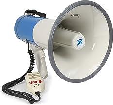 Vonyx MEG060 - Mégaphone professionnel, portée 1200 mètres, 60 Watts, idéal pour extérieur, micro anti-larsens, USB, SD, AUX, fonctions enregistrement et sirène
