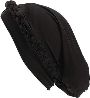 Qianmome Chemo Cancer Turbans Cap Twisted Braid Hair Cover Wrap Turban Headwear for Women