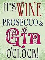 ビンテージ金属は、それをワイン、Proseccoとジン