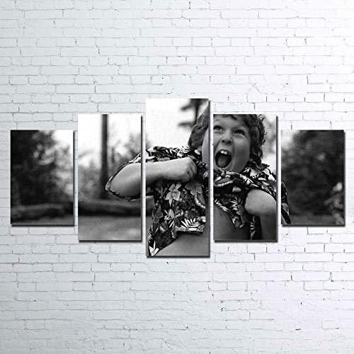 YFTNIPL 5 Piezas Lienzo Poster Castillo De Ensueño Bajo La Imagen De Fuegos Artificiales HD Arte De La Pared Impresa Decoración Dormitorio El Hogar Pintura De La Lona Foto