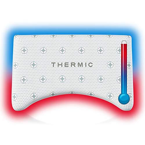UNIVANDO Orthopädisches Nackenkissen Nexus - Nackenstützkissen aus Visco-Gelschaum mit Thermic Bezug - Ideales Kissen für Seitenschläfer & Rückenschläfer - 56 x 36 x 11,5 cm