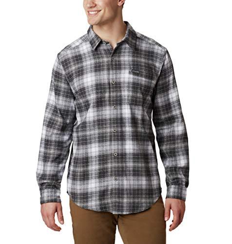 Columbia Men's Boulder Ridge Long Sleeve Flannel Shirt, Comfortable Stretch Cotton