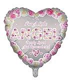 Globos de aluminio de lujo con forma de corazón rosa de ángel para recuerdo funerario, globos de aluminio para mesa de memoria, conmemoración, condolencia, aniversario