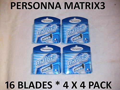 Personna Matrix3 - 16 Blades (4 x 4 Pack)