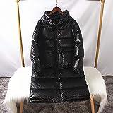 HSDFKD Mujer Abrigo de Invierno Manga Larga para Acolchado Chaqueta Cuello Alto Suelto, Grande, Talla Grande, Bolso Grande, Pan, Negro, S