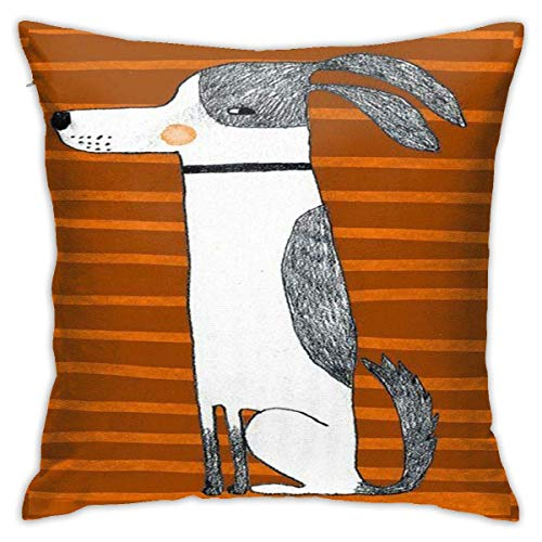 EU Cute Hot Dog Sun out Pans out Crazy Square Throw Pillow Cover Novelty Creative Cushion Cover Sofa Sofa For Sofa Sofa Home Decor Pillow Cover 18X18 Inch