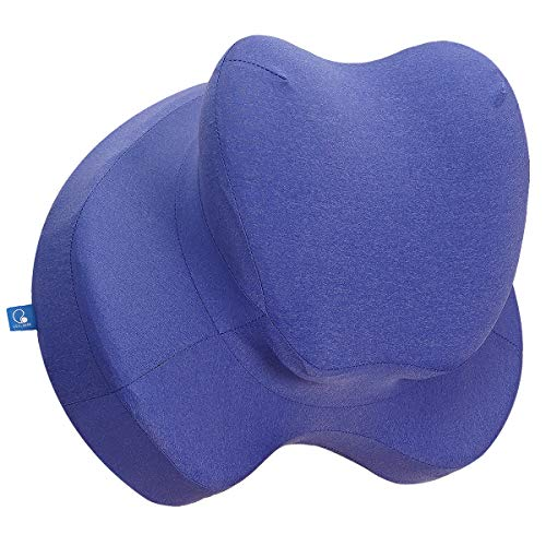 COOLBEBE Lumbar Support Pillow for Office Chair, Memory Foam Lumbar Cushion for Car - Premium Back Pillow Cushion with Ergonomic Designed for Lower Back Pain Relief Improve Posture (Blue)