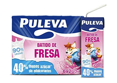Puleva Batido de Fresa - Pack de 6 x 200 ml - Total: 1200 ml