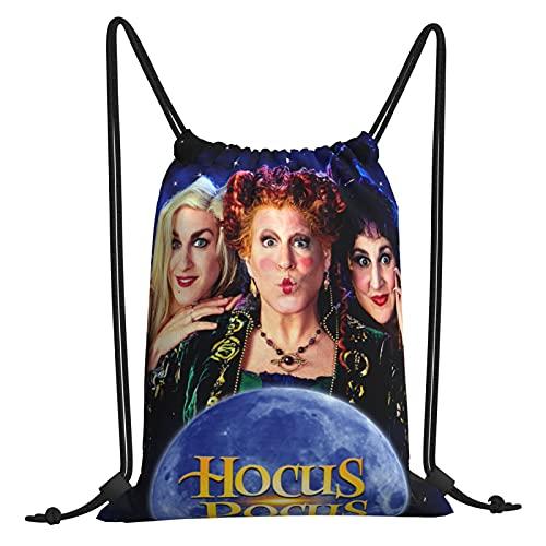Hocus Fntsy Pocus Bolsa de gimnasio con cordón, bolsa de viaje, bolsa de playa, para hacer ejercicio al aire libre, correr, natación, mochila unisex de 30,4 x 40,6 cm