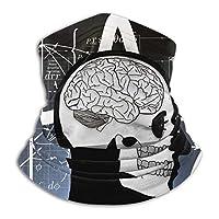 脳 天才 数学 暖かいスカーフバンダナ マジックスカーフ 暖かいターバン ネックウォーマー アウトドア スポーツ ユニセックス用