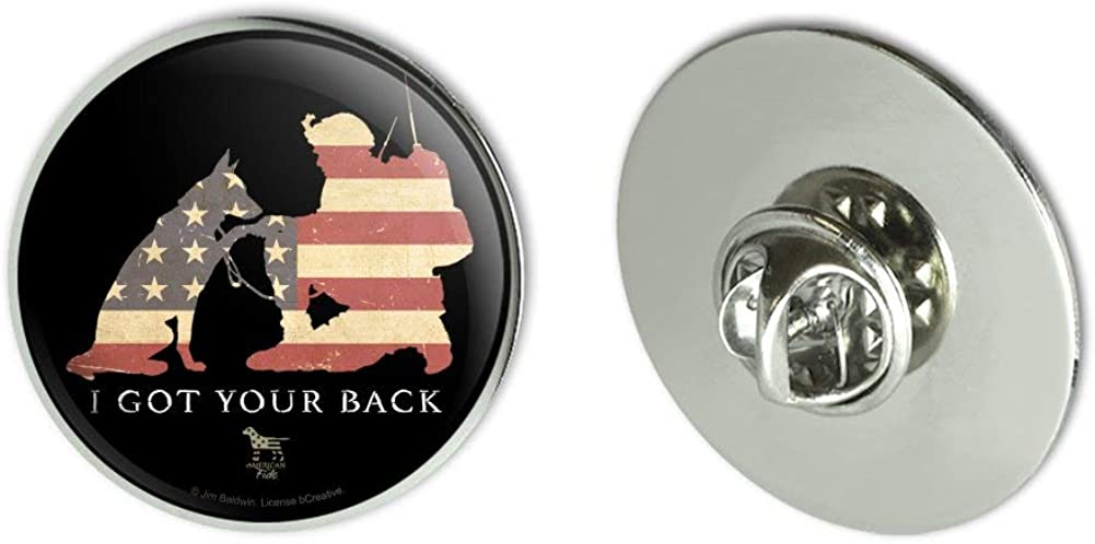 GRAPHICS & MORE I Got Your Back Soldier and German Shepherd Dog American Flag Metal 1.1