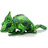 HollyHOME Plush Chameleon Stuffed Animals Large Realistic Chameleon Lizard Plush Toy Gifts for Kids 27 Inch Green
