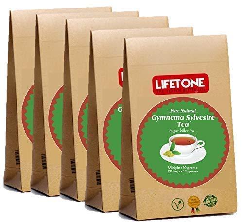 Gymnema Sylvestre Tea | Tè diabetico | Tisana disintossicante | 100 bustine di tè