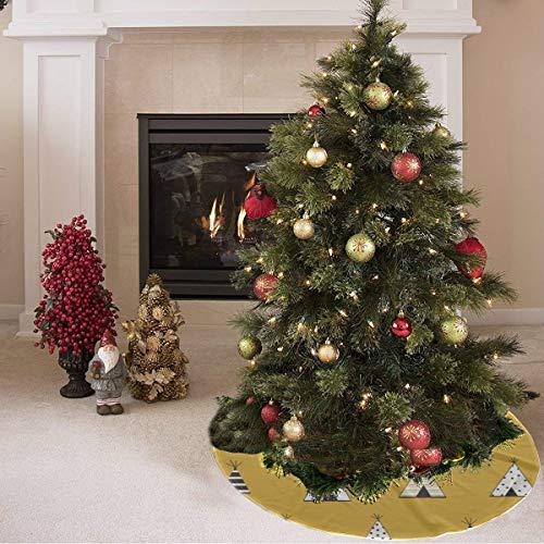 Falda de árbol de navidad Hermosa tienda de herramientas para el hogar móvil Tienda de campaña Imprimir La falda de árbol de navidad Poliéster Falda de árbol de navidad divertida Alfombra pa