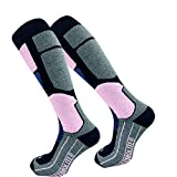 GAWILO 2 paires de chaussettes de ski pour femme Gawlo Thermolite - Chaussettes de snowboard - Chaussettes fonctionnelles avec rembourrage spécial