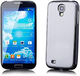 iCues Case Compatible with Samsung Galaxy S4 Aluminium Alloy Silver [Screen Protector Included] Cover Shell Shookproof
