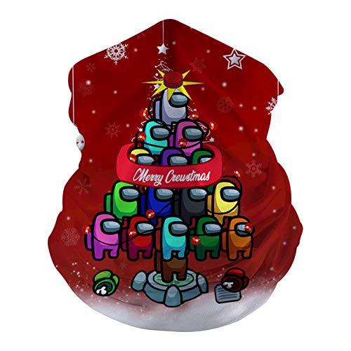 933 Gri-NCH Bandanas de Navidad sin costuras, polaina para el cuello, máscaras faciales, bufanda, para polvo, sol, viento