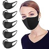 WFZGZ Staubmaske 5 Stück Atemschutzmaske Feinstaubmaske Schutzmaske abwaschbare Antifouling-Maske für Staub/Bakterien/Allergien/Verschmutzung/Pollen/Farbe/Rauch