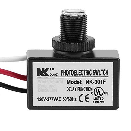 Mini interruptor de fotocélula, Mini Fotocélula Interruptor Fotoeléctrico del Interruptor Lámpara Sensor De Conmutación Luz Led 120-277V