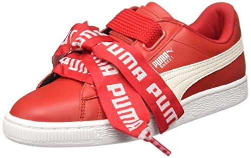 Puma Mujer Toreador Rojo Basket Heart DE Zapatillas-UK 6