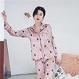 Secuos Otoño Invierno Conjunto De Pijamas Ropa De Dormir Mujer Hombre Pijamas De Terciopelo Dorado Y Pantalones Pijamas De Manga Larga Homewear XL 9