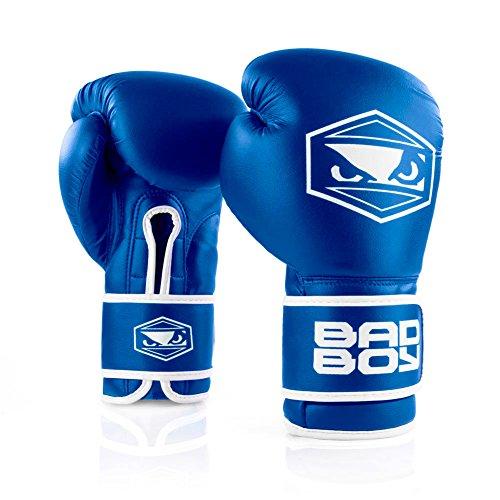 Bad Boy Strike Boxing Gloves-Blue-8oz