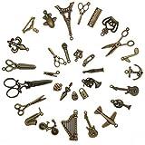 12 Piezas decoraci/ón de 6 Agujeros decoraci/ón de Muebles bisagra de Equipaje de Puerta de gabinete de Tono Bronce 50 * 28 mm Estilo Antiguo Vintage Antiguo,