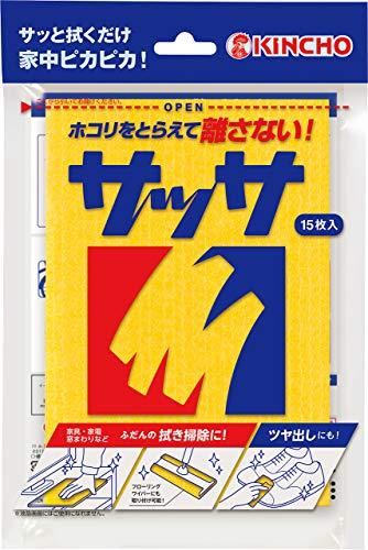 KINCHO サッサ ホコリ取りクロス ドライシート 15枚入 (家具・家電・網戸・フローリング)