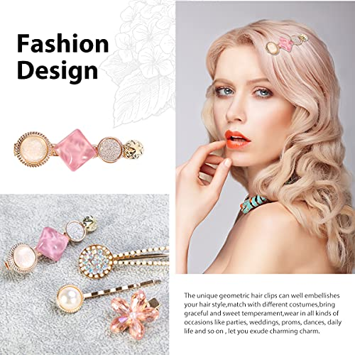 REHTRAD 8 in 1 Set Pearl Hair Clips for Women,Hair Clips for Women Stylish,Lovely Clips for Hair for Girls(Multicolor)