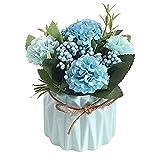 Hopeful Finti Fiori Decorazione di fiori artificiali Ortensia in stile europeo con vaso Adatto per la decorazione di matrimoni, camere e giardini, come regalo per parenti e amici