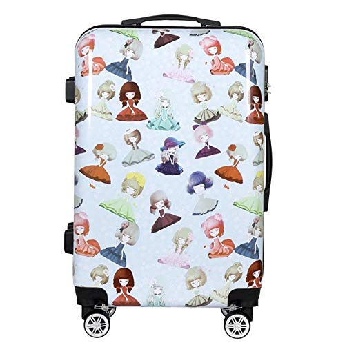 Mdsfe trolley suitcase carry on travel suitcase bag quality luxury rolling luggage boarding password pc cute box 20/24 inch - Style-D, 24'