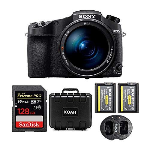 Sony CyberShot RX10 IV Digital Camera with 128GB SD Card and Accessory Bundle
