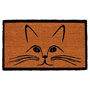Home & More 121321729 Purrfection Doormat, 17  x 29  x 0.60 , Natural/Black