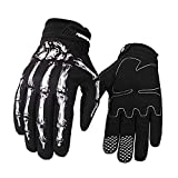 RIGWARL Cycling Gloves Skull Zombie Bone Design Cycling Climbing Motorcycles Cycling Gardening Gloves Men & Women (White, L)
