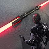 Espada láser de doble cabeza de Star Wars, sable láser con efecto de sonido, espada de doble filo, mango de 75 cm, 45 cm