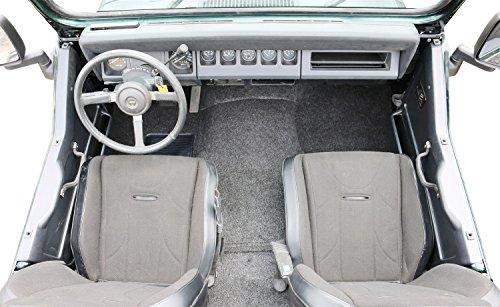 BedRug Jeep Kit - BedRug BRCYJ76F fits 76-95CJ-7/YJ FRONT KIT 8PC FLOOR KIT (INCLUDES HEAT SHIELDS)