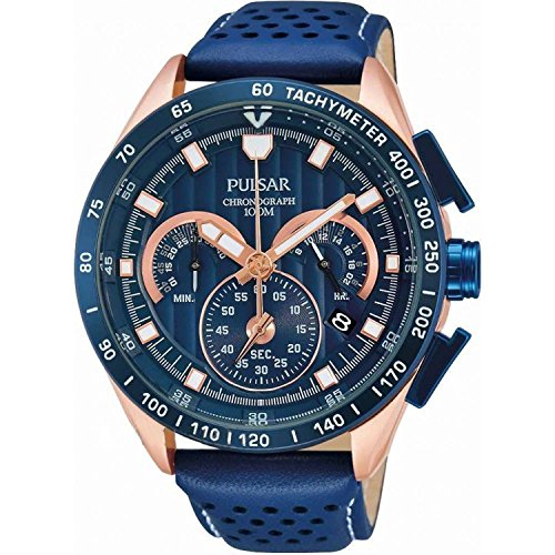 [セイコー パルサー] SEIKO PULSAR 腕時計 WRC RALLY ラリー クロノグラフ ブルー/ローズゴールド PU2082X1 メンズ [並行輸入品]