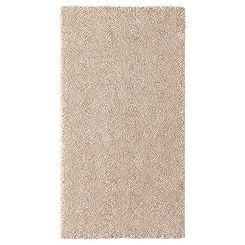 Teppich STOENSE Hochflor Offwhite 80x150 cm