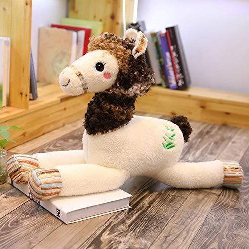 qingbaobao Peluche Chameau Doux Jouet Adorable Peluche Chameau Peluche Animaux en Peluche Jouets Enfants Cadeau 55 Cm
