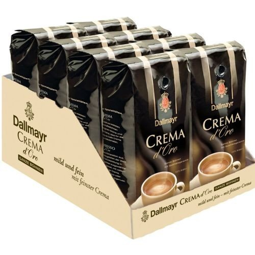 8 x Dallmayr Crema d´Oro Kaffeebohnen 1kg
