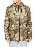 Hurley Men's Realtree Printed Full-Zip Fleece Hooded Sweatshirt, Brown (Edge Camo), L