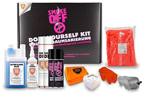SMOKE OFF Geruchsentferner Set gegen Rauch- und Brandgeruch – DIY Geruchsneutralisierer Kit zur professionellen Geruchsentfernung, effektive Geruchszersetzung, schnelle & kostengünstige Soforthilfe