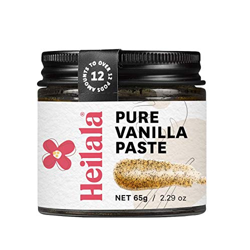 Vanilla Bean Paste for Baking - Heilala Vanilla, the Choice of Worlds Best Chefs & Bakers, Using Sustainable, Ethically Sourced Vanilla, Hand-Selected from Polynesia, 2.29 oz