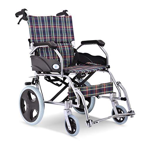 Rolstoel Aluminium Vouwen Ultra-lichtgewicht Ouderen Stoel Oude Mensen Trolley Transport Stoel Laden Gewicht 100 kg