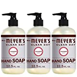 Mrs. Meyer's Clean Day Liquid Hand Soap, Cruelty Free and Biodegradable Formula, Lavender Scent, 12.5 Oz- Pack of 3