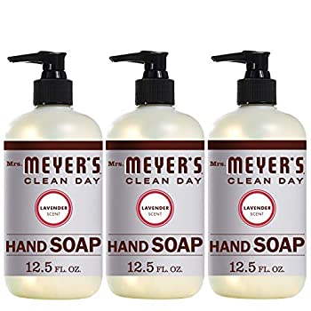Mrs Meyer s Clean Day Liquid Hand Soap Cruelty Free and Biodegradable Hand Wash Made with Essential Oils Lavender Scent 12.5 oz - Pack of 3
